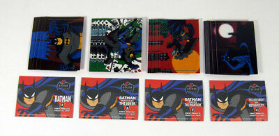 Lot of (10) 1993 Topps Batman Animated Series 2 Vinyl Mini Cels Set (4) Nm/Mt