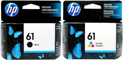 HP #61 2pack Combo Ink Cartridges 61 Black and Color NEW GENUINE