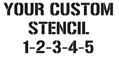 Custom Stencils (12x12inch) stencil sheet with your text or design