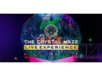 Crystal Maze Manchester 29th September Tickets