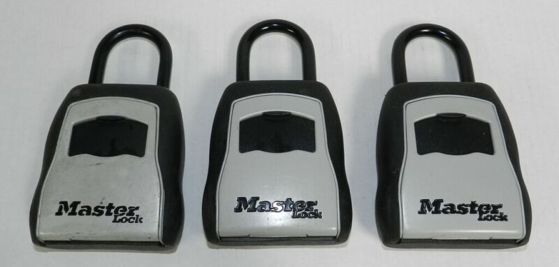 3 Master Lock 5400D Set Your Own Combination Portable Lock Boxes