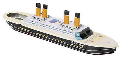 großes Dampfboot Titanic mit Kerzen - Boot  Knatterboot