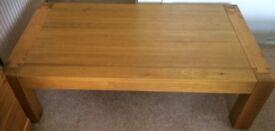 Solid Oak or Teak Coffee Table, 130 x 71 x 38cm High