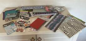 Scrapbooking / cardmarking bundle including scrapbook