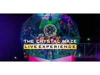 *CRYSTAL MAZE* TICKET LONDON - limited!! *BARGAIN PRICE*