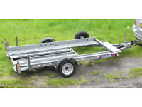 Smaller car transport trailer in excellent condition - PRICE REDUCED - Check Size !