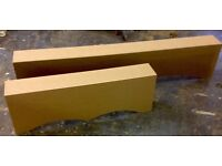 3ft window pelmet box ready to paint or cover,come with fixing brackets