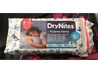 Dry nites boys pull up pyjama pants 8-15
