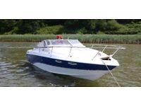 Larson Hampton 220 speed boat, cuddy cabin, 275HP, 325 hours, dual fuel Petrol and LPG, GPS, trailer