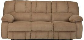 X2 Faux suede three seater Reclining sofas