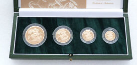 2004 proof gold sovereign 4 coin set