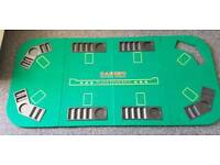 Texas Hold'em Folding Poker Table Top with Chip Trays