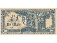 UNC malaya $10 dollar bank note from WW2 japanese invasion money