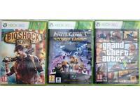 Xbox 360 + Kinect + games (no controller)