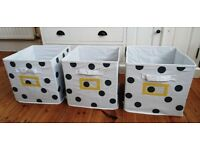 Set of three fabric storage boxes from Vertbaudet