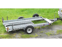 Car transporting trailer for smaller vehicles - in excellent condition