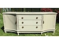Upcycled Shabby Chic Television/Media unit fits up to a 50 ins flatscreen TV
