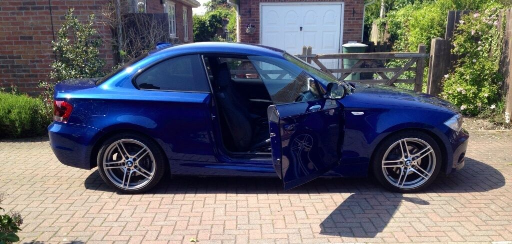 Bmw 1 series coupe 120d m sport sport plus edition late 2012 le mans blue black leather in - Black bmw 1 series coupe ...