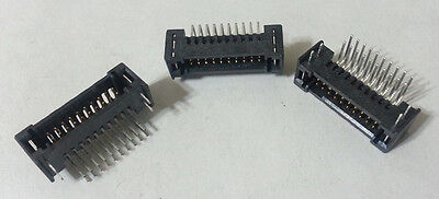 Header Connector Shrouded Ra Samtec .050 20-pin Tfm-110-01-s-d-re1-wt 224pcs