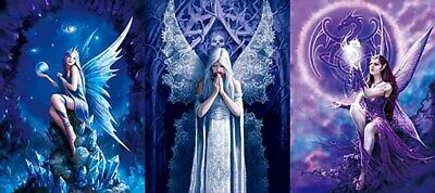 3D Poster Gothic Fairies - Triple Views - 3D Lenticular 12x16 Animated Print