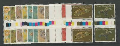Cocos Islands, Postage Stamp, #135//150 (10 Dif) Mint NH Gutter Pairs, 1985