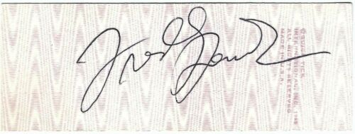1985 FREDDY FENDER Personally AUTOGRAPHED Country Music FULL Concert TICKET