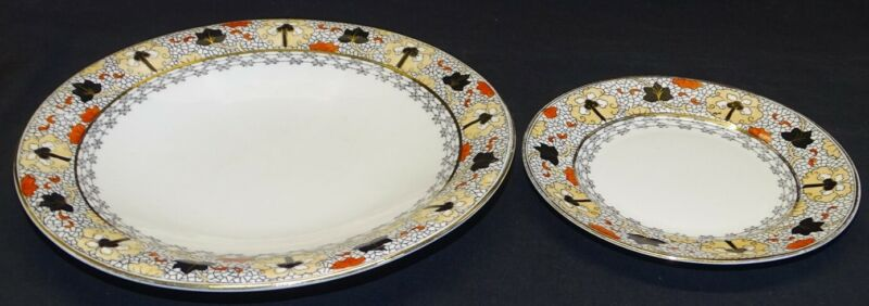 Royal Grafton England Dinner & Bread Plate Chinese Design