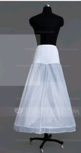 Women lycra floor length 1 tier petticoat