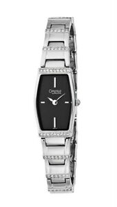 Caravelle by Bulova - Women's Crystal Accented Black Dial Watch