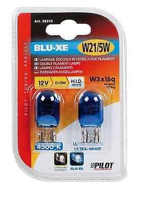 Lampada BIANCA con zoccolo vetro 12V - W21/5W - T20 - FIAT 500 LUCE DIURNA