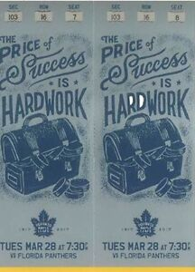 Toronto Maple Leafs Gold Tickets - March 28th