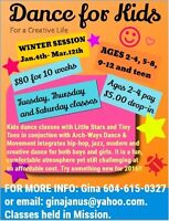 Dance Classes for Kids, Teens and Adults