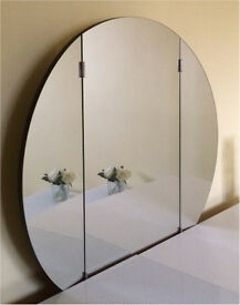 Vintage Retro Full Moon Folding Dressing Table Mirror From McDonald Furnishings Glasgow
