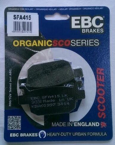 Honda FES125 / SH125 / NSS125 / NSS250 / NSS300 EBC REAR Organic Brake Pads