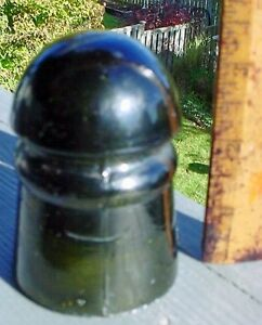 Antique 1900 Jade Green telegraph railway insulator London Ontario image 1