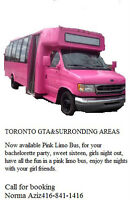 Only pink party bus in toronto GTA and surronding areas
