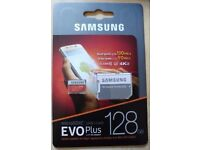 New Samsung EVO Plus 128GB Micro SD Card SDXC UHS-I with SD Adapter