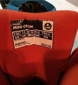 Kids Snowboard Boots - Burton Mini Grom Kitchener / Waterloo Kitchener Area image 3