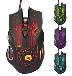 6D USB Wired Gaming Game Mouse