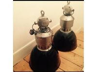 Industrial vintage lampshades - warehouse style X2