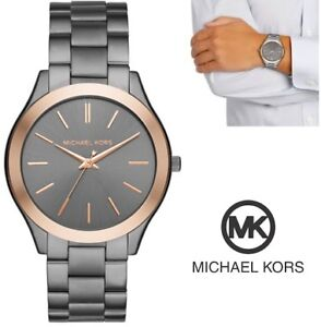 NEW MICHAEL KORS MEN'S STAINLESS STEEL CASUAL WATCH WITH ROSE GO