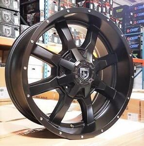 New MATTE BLACK 20x9 WHEELS!! 5, 6 and 8 bolt - FORD F150 F250 F350 RAM 1500 2500 3500 CHEVY GMC 8X180 - 861