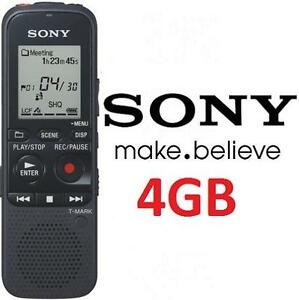 USED SONY DIGITAL VOICE RECORDER 4GB ICD-PX333 DIGITAL FLASH VOICE RECORDER BLACK 102650200