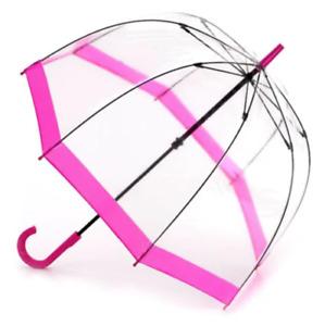 Birdcage Umbrella Princess Pink Transparent Fulton