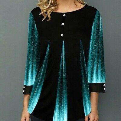 BRAND NEW Women Casual Three Quarter Length Sleeve Blouse XL Only Three Quarter Sleeve Blouse