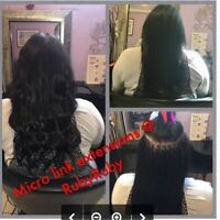 Rallonges a billes (fusion froide)/Hair extensions
