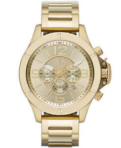 Armani Exchange men's gold watch chronograph