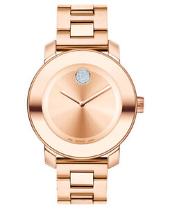 Bold Champagne Dial Gold Ion-plated Ladies Watch brand new