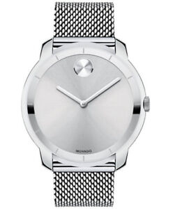 Bold Silver Dial Stainless Steel Mesh Men's Watch 3600260 New