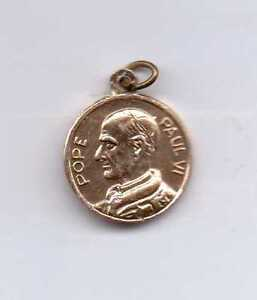 Pope Paul VI and St. Francis Gold Tone Medal-Made in Italy